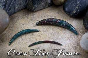Bloodstone Septum Tusk by Oracle Body Jewelry