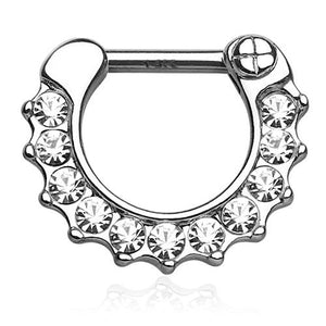 Septum - CZ Paved 14k Gold Septum Clicker