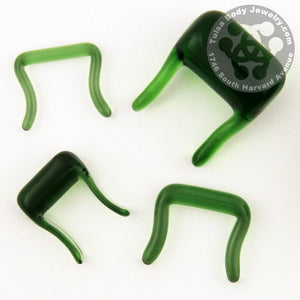 Green Septum Retainer by Glasswear Studios