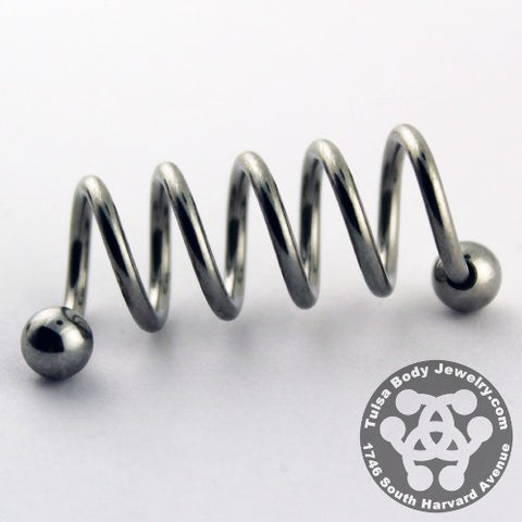 Spiral Barbells - 14g Stainless Steel Quintuple Spiral Barbell