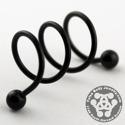 Blackline Triple Spiral Barbell