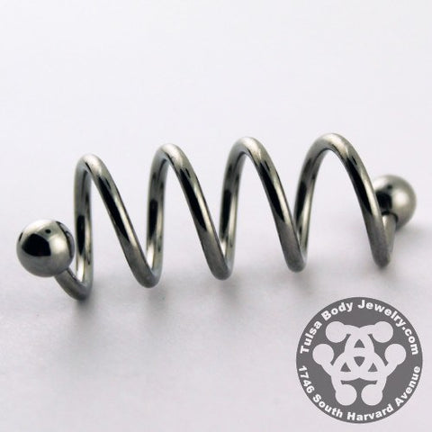 Spiral Barbells - 16g Stainless Steel Quadruple Spiral Barbell