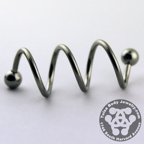 Stainless Steel Triple Spiral Barbell