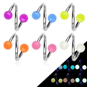 Glow-in-the-Dark Spiral Barbell