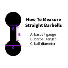 Straight Barbells - Black Titanium Straight Barbell