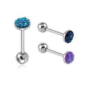 Druzy Tongue Barbell