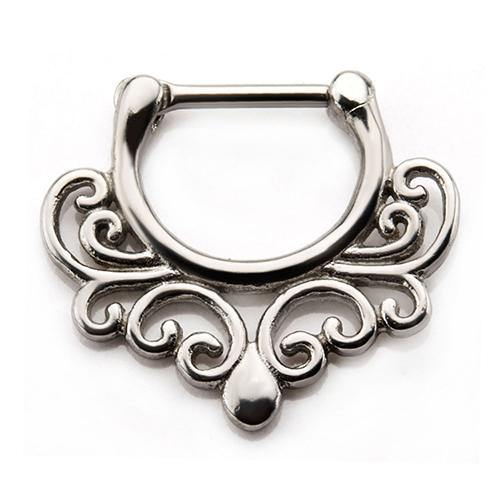 Stainless Wavy Septum Clicker