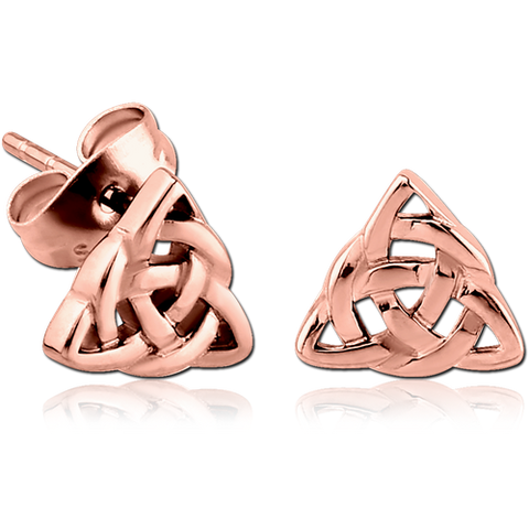 Rose Gold Plated Celtic Knot Earrings