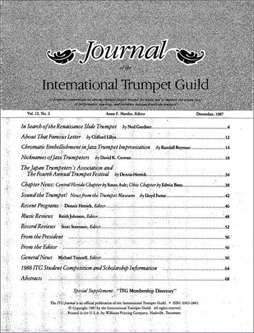 — ITG Journal —  December 1987 complete