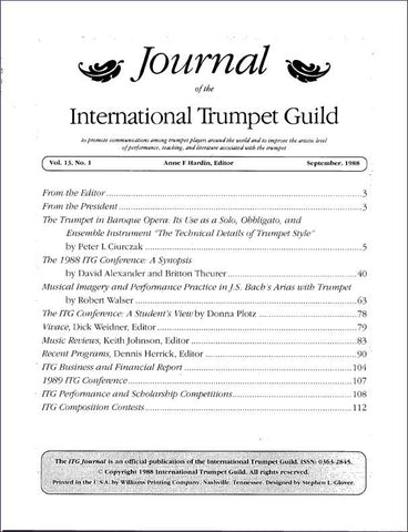 1988 September Complete ITG Journal