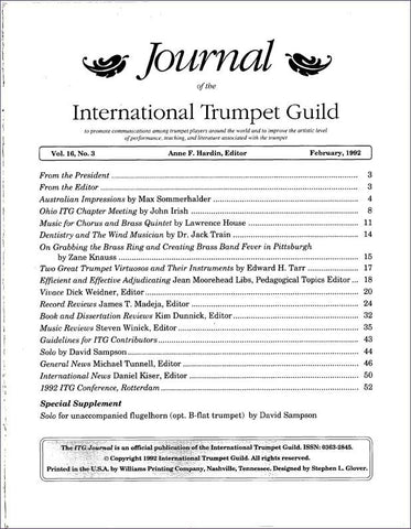 — ITG Journal —  February 1992 complete