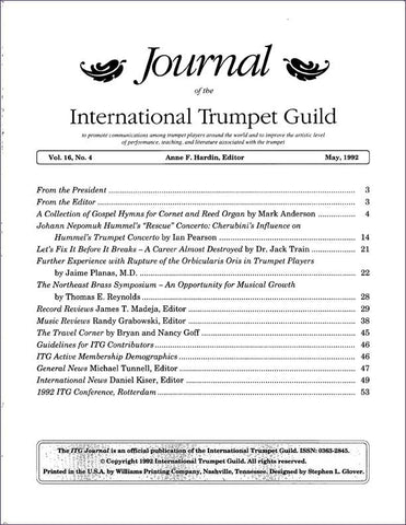 — ITG Journal —  May 1992 complete