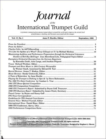 1992 September Complete ITG Journal