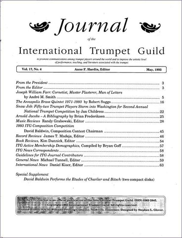 — ITG Journal —  May 1993 complete