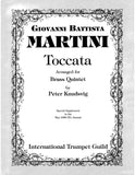 Martini, Giovanni Battista: Toccata (arr. for brass quintet)