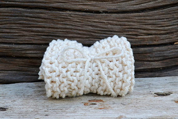 Hand-knit Natural 100% Cotton Exfoliating Washcloth
