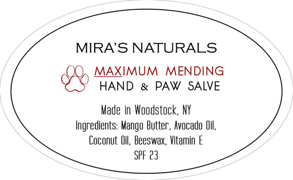Mira's Naturals Maximum Mending Hand & Paw Salve - 2 ounces