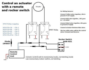 Using both a Switch and Remote at the same time with Linear Actuators