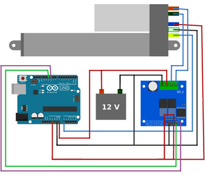 Potentiometer Feedback Linear Actuator with Arduino