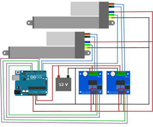 Synchronous Control of Two Optical Linear Actuators using an Arduino