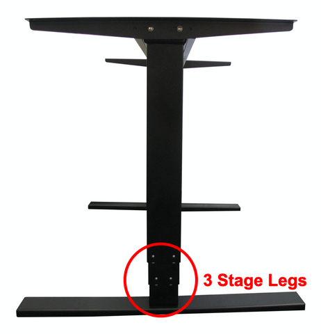 Dual Stage Standing Desk Lift