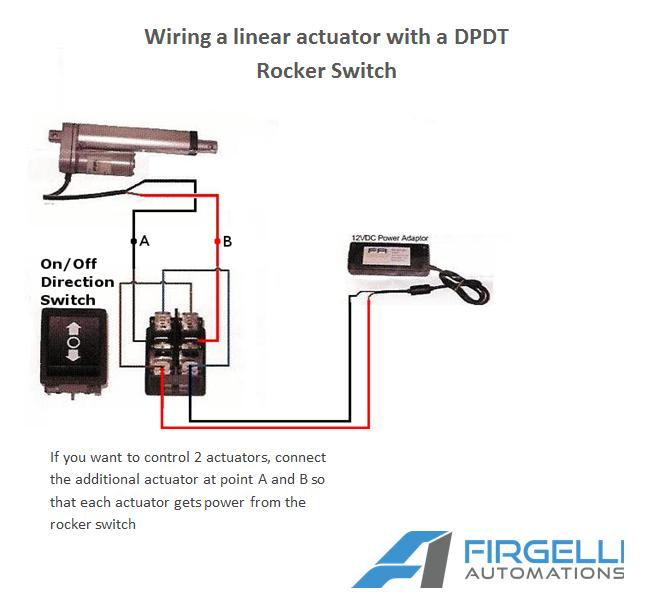 rocker switches for linear actuators rh firgelliauto com Electric Linear Actuator 12V Wiring 24 Volt Linear Actuator Wiring