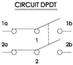 Circuit Diagram of a DPDT Switch