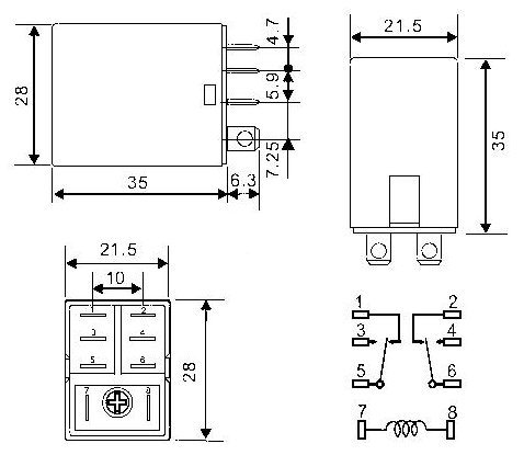 4 pole relay wiring diagram 12 volt double pole double throw relay firgelli  12 volt double pole double throw relay
