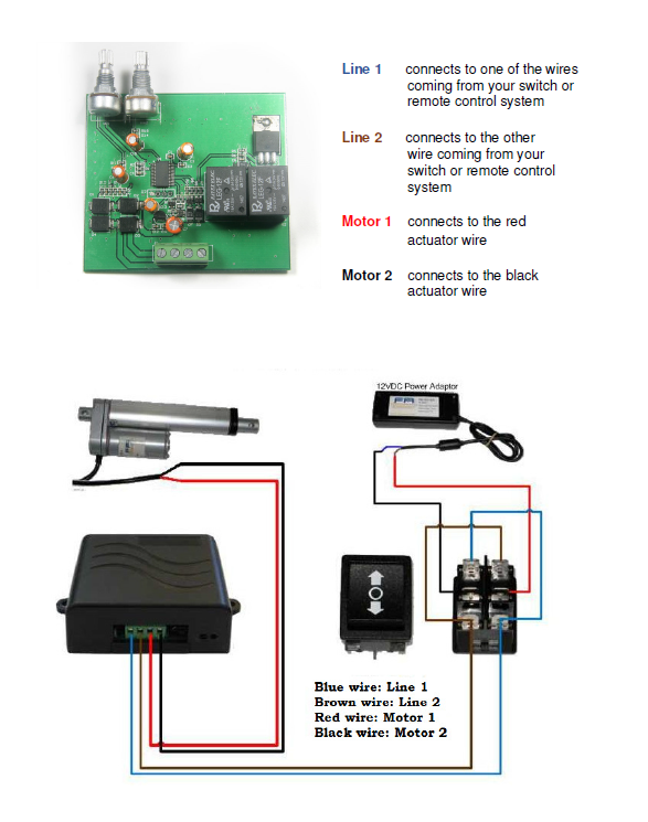 Firgelli Linear Actuators Wiring Diagram For