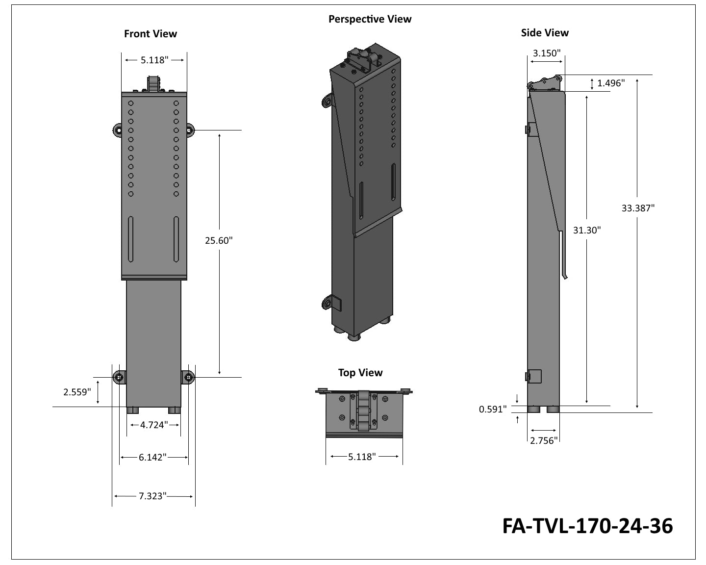 FA-TVL-170-24-36 Tech Drawing