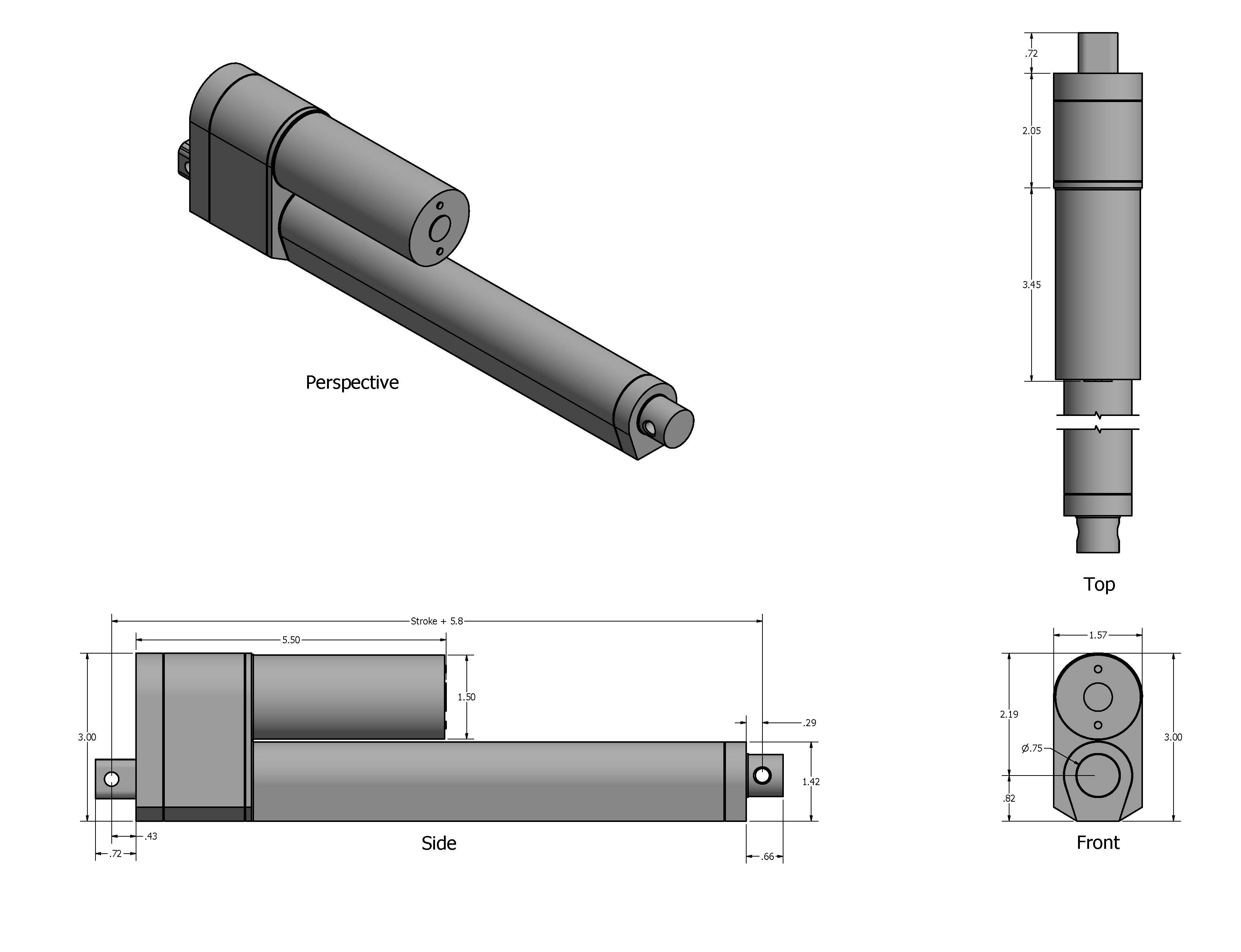 Feedback actuator drawing