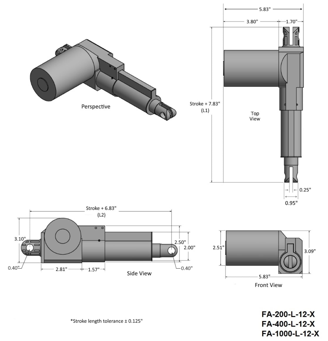 Heavy Duty Actuator Tech Drawing