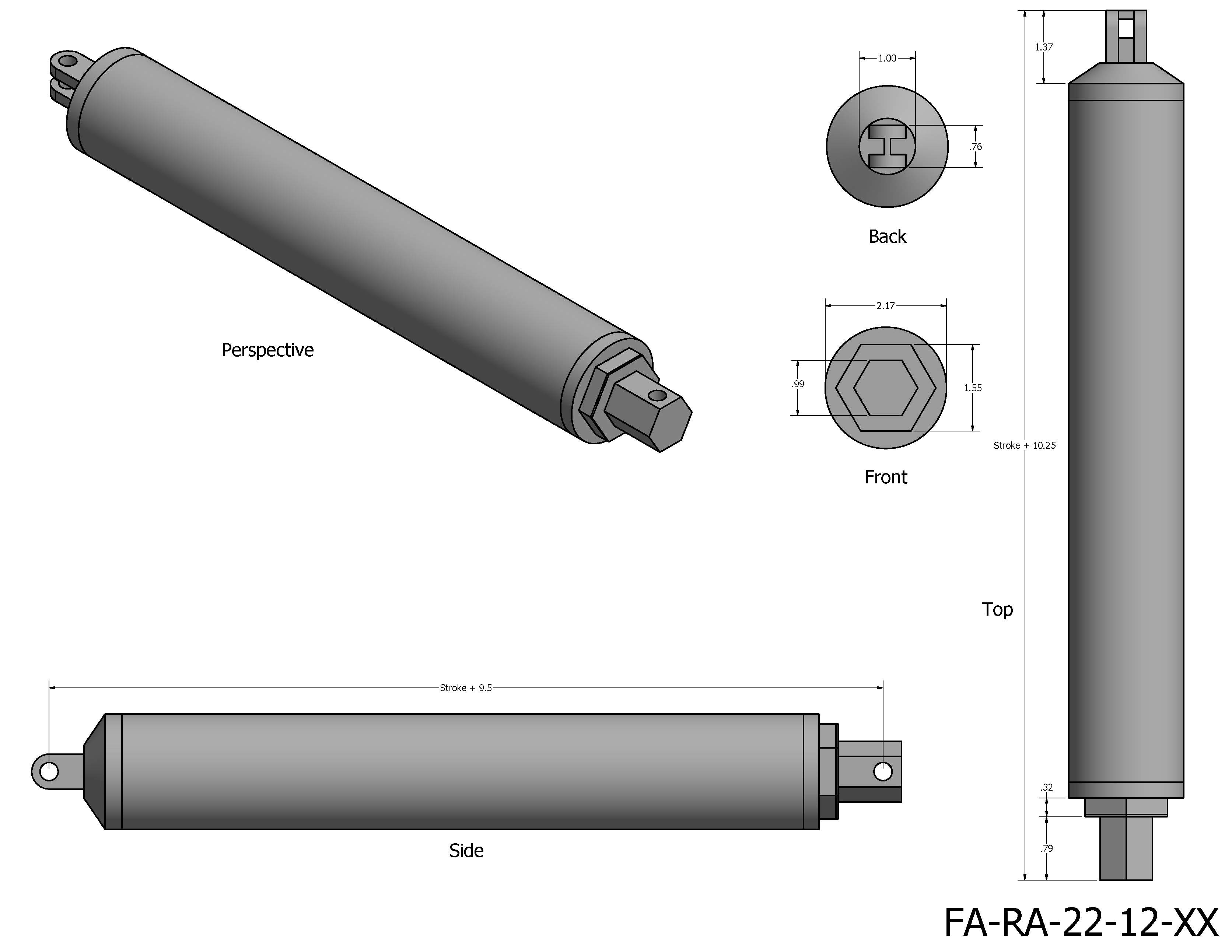 High Speed Linear Actuator Dimensions