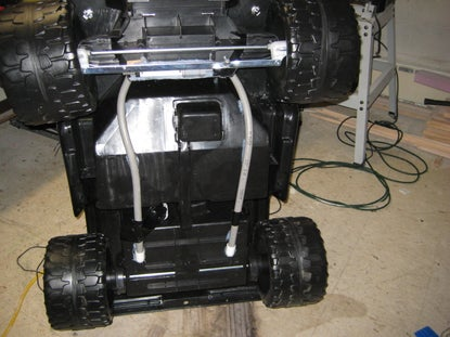underneath an RC Power Wheels