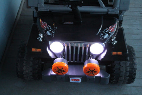 headlights in an  RC Power Wheels
