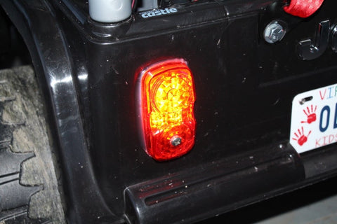 tail lights in an  RC Power Wheels