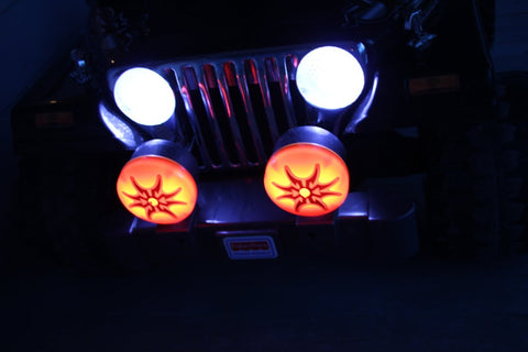 flood lights in an rc power wheels jeep