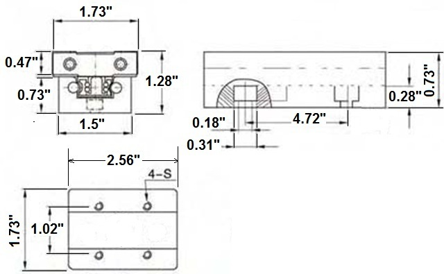 Mini slide rails drawing