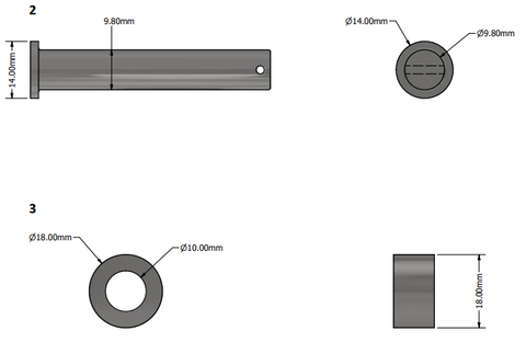 Mounting bracket for Linear Actuator