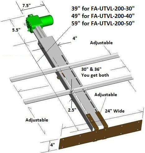 Drop Down TV Lift Dimensions