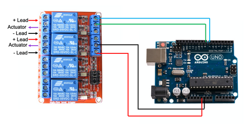 SPDT Relay Controlled with an Arduino