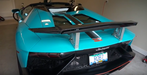 lamborghini air brake wing