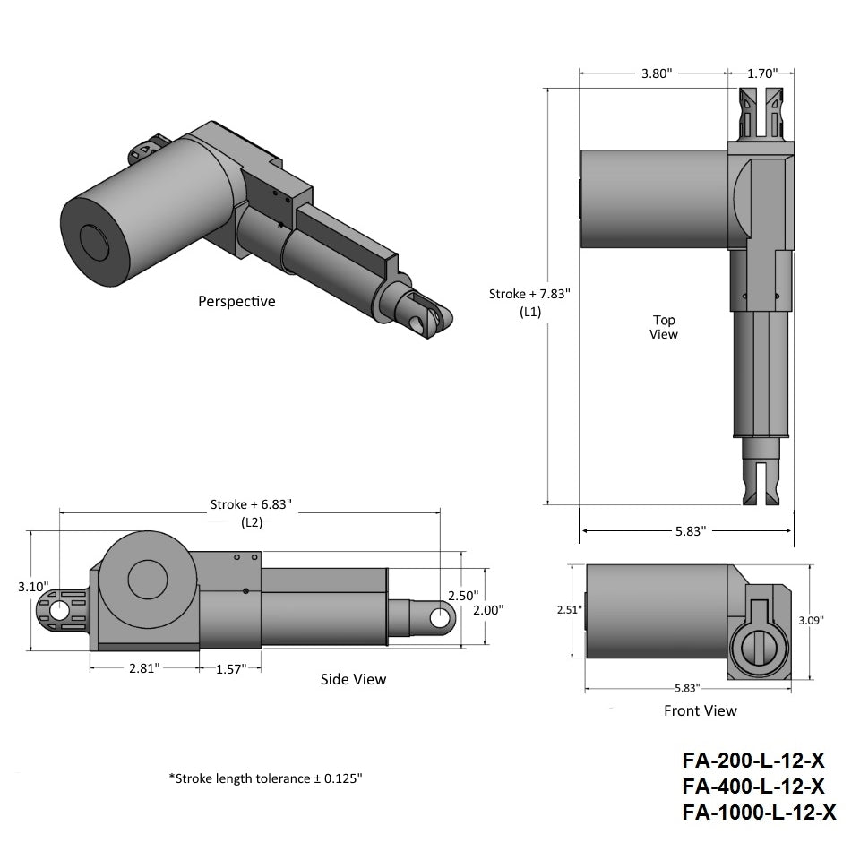 Heavy Duty Actuator Technical Drawing