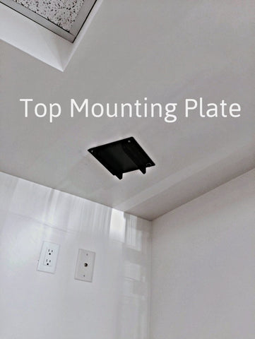top mounting plate drop down tv lift