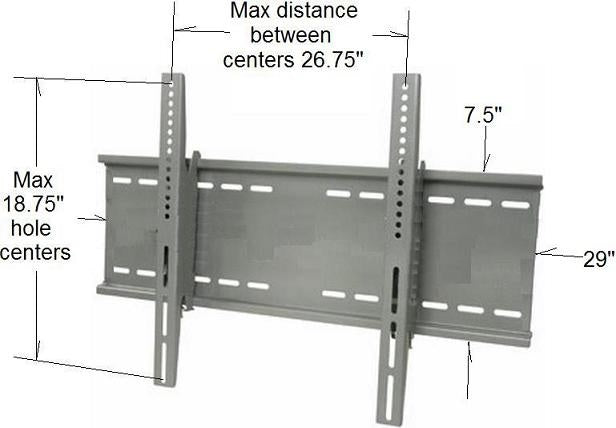 Wall mount TV bracket Dimensions