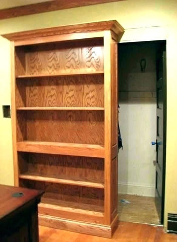 hidden sliding bookcase