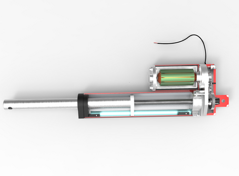 Inside a Linear Actuator - How does a Linear Actuator work