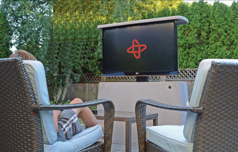 Gave Tv Meubel.Outdoor Tv Lift Cabinet Watch The Game Outside With Friends