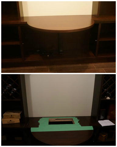 pop up wine drawer