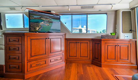 tv lift cabinets for Yachts, boats, RV's or other confined living spaces